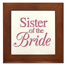 Sister of the Bride (rose) Framed Tile