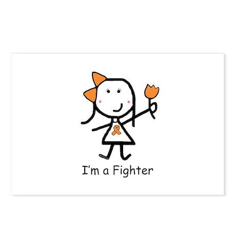 Orange Ribbon - Fighter Postcards (Package of 8)