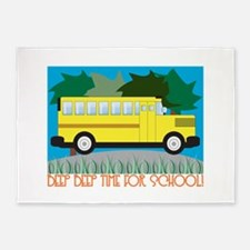Beep Beep Time For School! 5'x7'Area Rug
