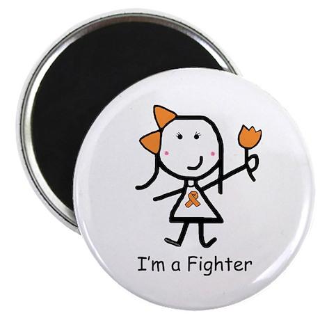 """Orange Ribbon - Fighter 2.25"""" Magnet (10 pack)"""