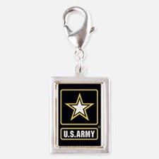 US ARMY Gold Star Logo Black Charms