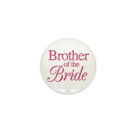 Brother of the Bride (rose) Mini Button