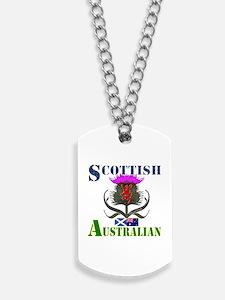 Scottish Australian Thistle Design Dog Tags
