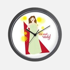 Red Carpet Ready! Wall Clock