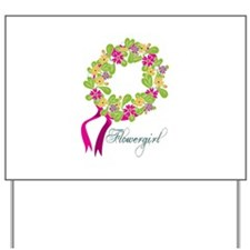 Flower Girl Yard Sign