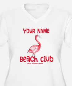 Custom Beach Club Plus Size T-Shirt
