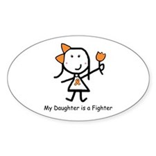 Orange Ribbon - Daughter Oval Decal