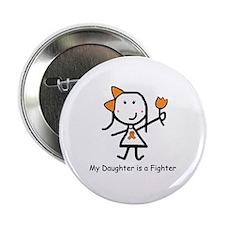 Orange Ribbon - Daughter Button