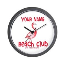 Custom Beach Club Wall Clock