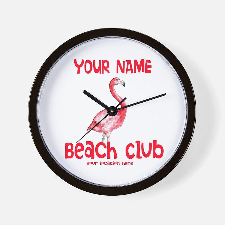 Custom Beach Club Wall Clock