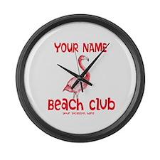 Custom Beach Club Large Wall Clock