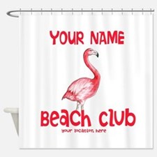 Custom Beach Club Shower Curtain