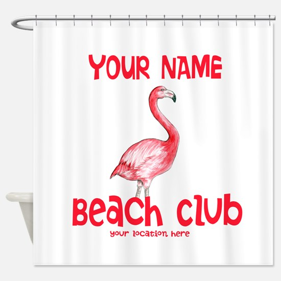Custom Beach Club Shower Curtain