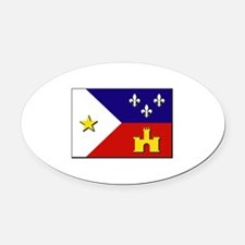 Flag of Acadiana Oval Car Magnet