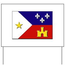 Flag of Acadiana Yard Sign
