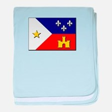 Flag of Acadiana baby blanket