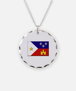 Flag of Acadiana Necklace