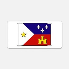 Flag of Acadiana Aluminum License Plate
