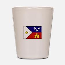 Flag of Acadiana Shot Glass