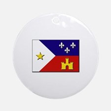Flag of Acadiana Ornament (Round)