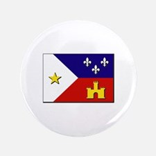 """Flag of Acadiana 3.5"""" Button"""