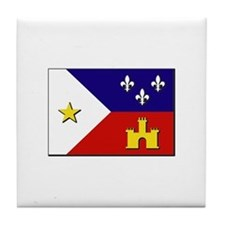 Flag of Acadiana Tile Coaster
