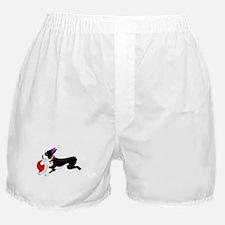 Boston Terrier Christmas Boxer Shorts