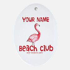Custom Beach Club Ornament (Oval)