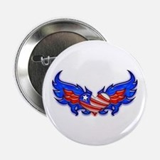 "Heart Flag ver4 2.25"" Button (100 pack)"