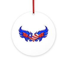 Heart Flag ver4 Ornament (Round)