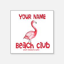 Custom Beach Club Sticker