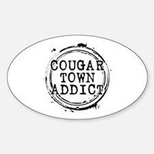 Cougar Town Addict Oval Decal