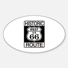 Route 66 Oval Decal