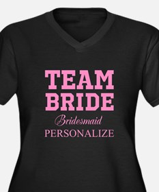 Team Bride | Personalized Wedding Plus Size T-Shir