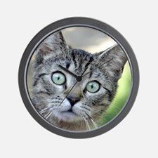 Cute Whiskers the cat Wall Clock
