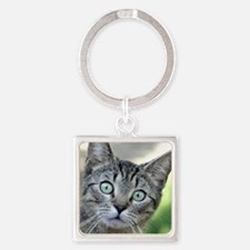 Cute One young woman only Square Keychain