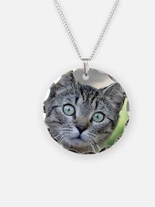 Unique Gray cat Necklace