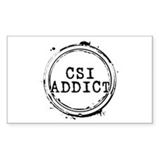 CSI Addict Rectangle Decal