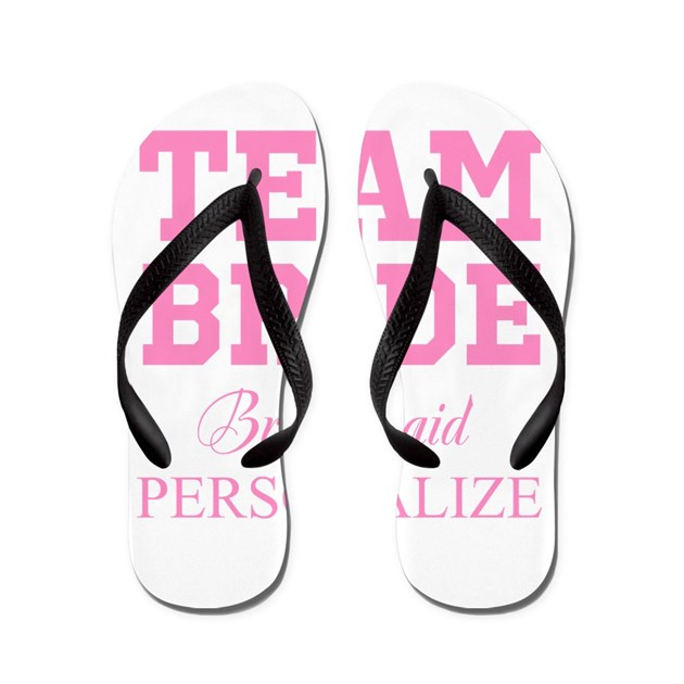 Team Bride Personalized Wedding Flip Flops By Hqart