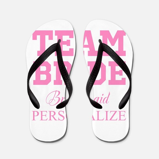 Team Bride | Personalized Wedding Flip Flops