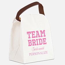 Team Bride | Personalized Wedding Canvas Lunch Bag