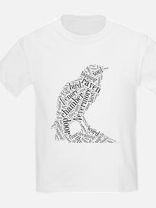 Raven as a Word Cloud T-Shirt