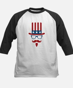 Uncle Sam Glasses And Mustach Tee