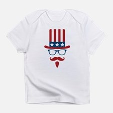 Uncle Sam Glasses And Mustache Infant T-Shirt