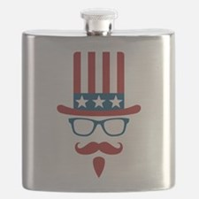 Uncle Sam Glasses And Mustache Flask