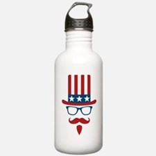 Uncle Sam Glasses And Water Bottle