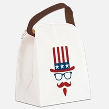 Uncle Sam Glasses And Mustache Canvas Lunch Bag