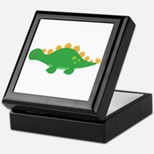 Cute Green Stegosaurus Dinosaur Keepsake Box