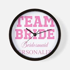 Team Bride | Personalized Wedding Wall Clock