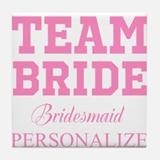 Team Bride | Personalized Wedding Tile Coaster
